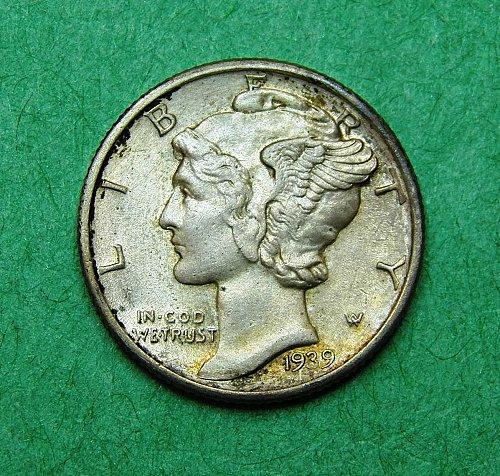 1939 D Mercury Dime Choice AU Coin   995