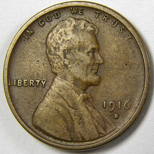 1916 S Lincoln Wheat Cent #1