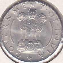 India 1/4 Rupee 1954C