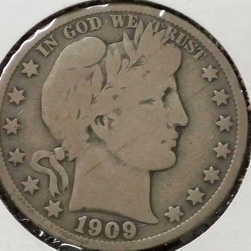 1909 S Barber Half Dollar - VG 10
