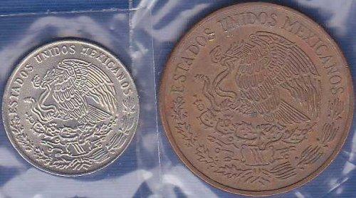 Mexico 20 Centavos 1977 & 1974
