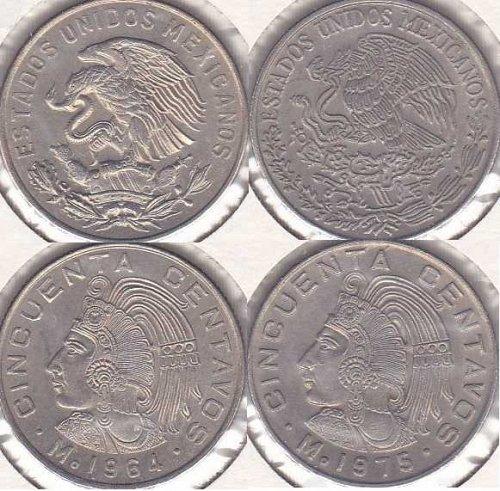 Mexico 50 Centavos 1964 & 1975