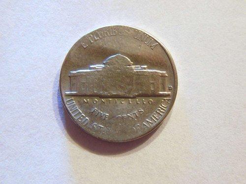 Multi Error Coin 1964-D Jefferson Nickel, Weak Strike, Lamination & Strike Error