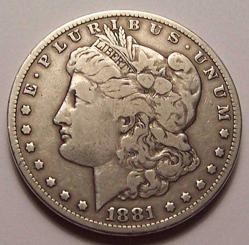 1881-CC  MORGAN  SILVER  DOLLAR  >> F12 <<