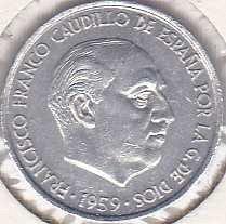 Spain 10 Centimos 1959