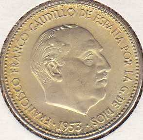 Spain 2 1/2 Pesetas 1953 (56)