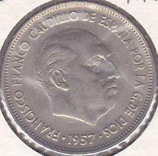 Spain 25 Pesetas 1957 (69)