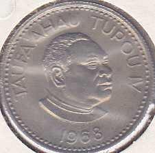 Tonga 5 Seniti 1968