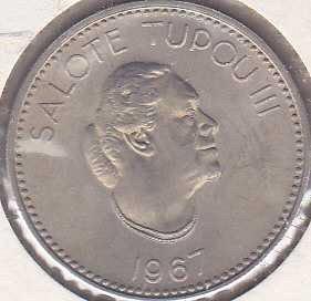 Tonga 10 Seniti 1967