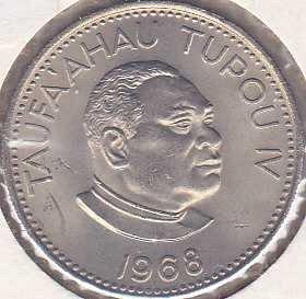 Tonga 10 Seniti 1968