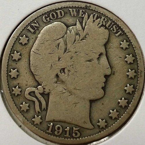 1915 Barber Half Dollar - VG