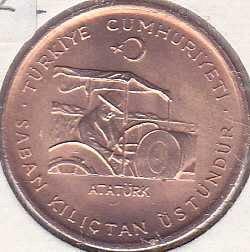 Turkey 10 Kurus 1974