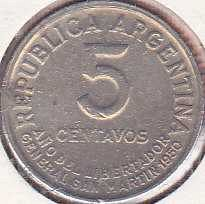 Argentina 5 Centavos 1950