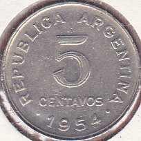 Argentina 5 Centavos 1954