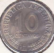 Argentina 10 Centavos 1950