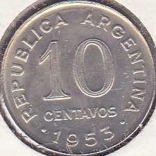 Argentina 10 Centavos 1953