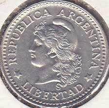 Argentina 10 Centavos 1958