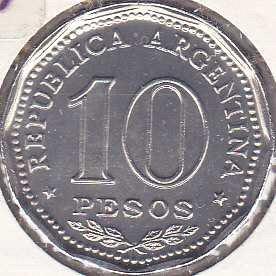 Argentina 10 Pesos 1966