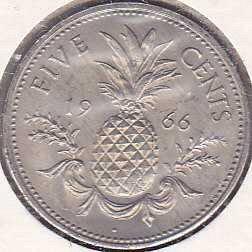 Bahamas 5 Cents 1966
