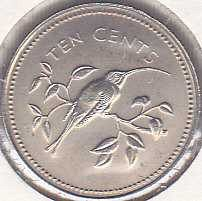 Belize 10 Cents 1974