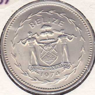 Belize 50 Cents 1974