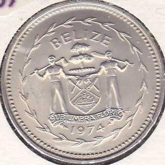 Belize 50 Cents 1974