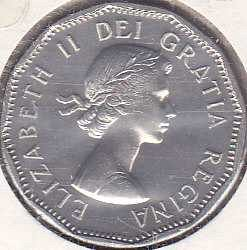 Canada 5 Cents 1962