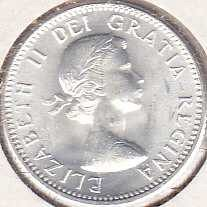Canada 10 Cents 1961