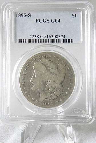 1895-S $1 Morgan Silver Dollar PCGS G04 - KEY DATE & MINT! POPULAR IN ANY GRADE!