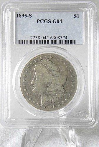 1895-S $1 Morgan Silver Dollar PCGS G04 - KEY DATE & MINT! POPULAR IN ANY GRADE!