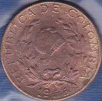 Colombia 1 Centavo 1965