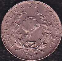 Colombia 1 Centavo 1967