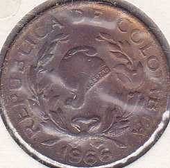 Colombia 5 Centavos 1966