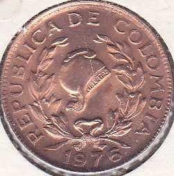 Colombia 5 Centavos 1976
