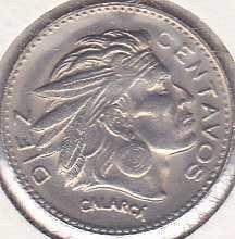 Colombia 10 Centavos 1959