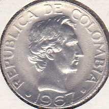 Colombia 10 Centavos 1967