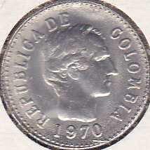 Colombia 10 Centavos 1970