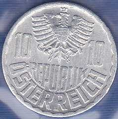 Austria 10 Groschen 1967