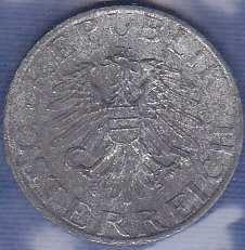 Austria 5 Groschen 1968 Zinc