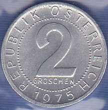 Austria 2 Groschen 1975