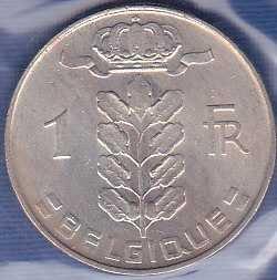 Belgium 1 Franc 1969