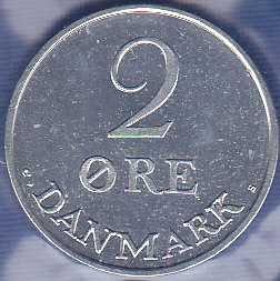 Denmark 2 Ore 1969
