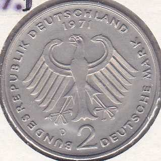 Germany / West 2 Mark 1971D