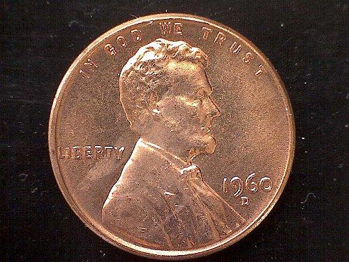 1960 D Lincoln Memorial Penny
