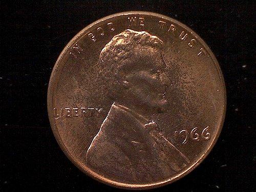 1966 P Lincoln Memorial Penny