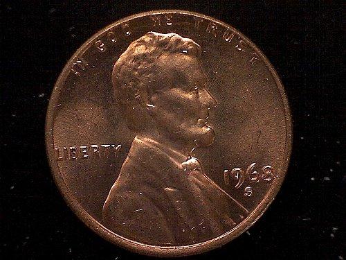 1968 S Lincoln Memorial Penny