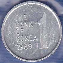 Korea / South 1 Won 1969