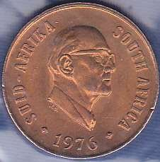 South Africa 1 Cent 1976