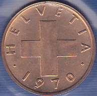 Switzerland 1 Rappen 1970
