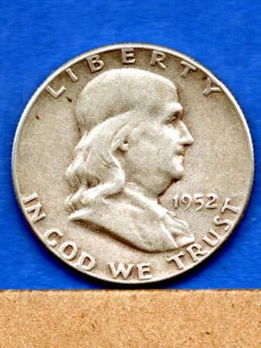 1952 Franklin  Half Dollar Silver US Coin Money
